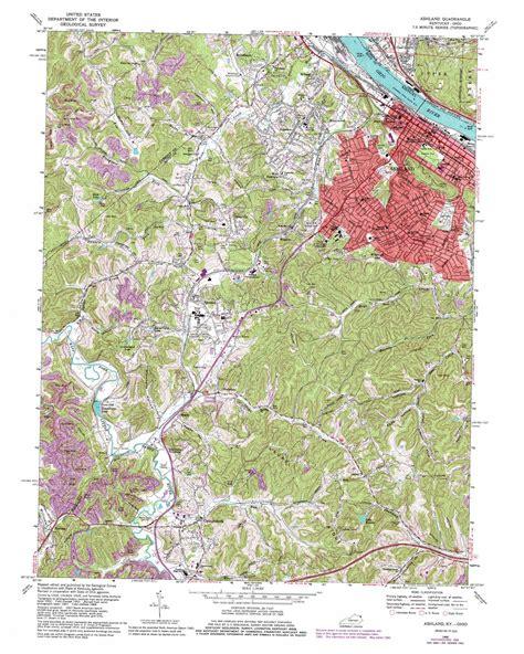 kentucky map ashland ashland topographic map ky oh usgs topo 38082d6