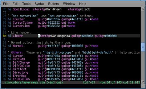 vim colors colors vim linenr and cursorline colour configuration