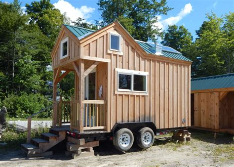trailer for tiny house 8x16 cross gable tiny house on a trailer