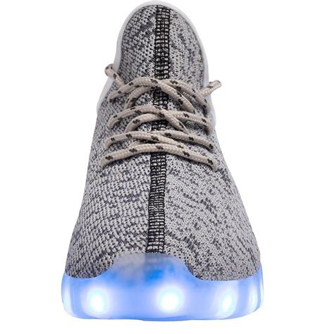 gray light up shoes bright led light up trainers gray
