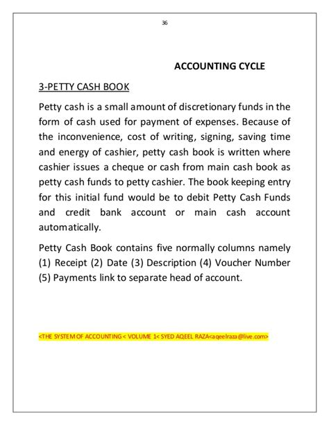 Request Letter Format For Petty Accounting Cycle