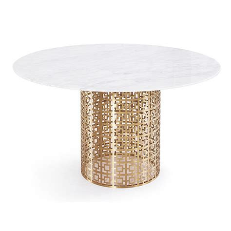 white gold dining table 10 white marble dining tables you ll adore