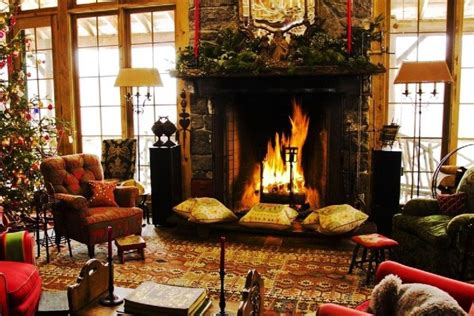 christmas fireplace wallpaper wallpapertag