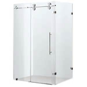 vigo 34 in x 73 in frameless bypass shower enclosure in