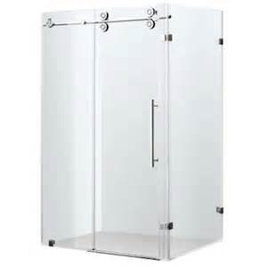 vigo 34 in x 73 in frameless bypass shower enclosure in