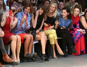 fashion house tv show london fashion week 2012 alexa chung kelly osbourne and nicola roberts turn out to