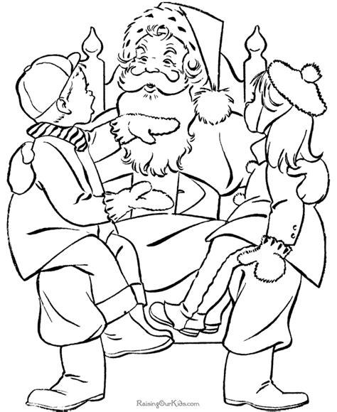 what color is santa claus santa claus page to color 019
