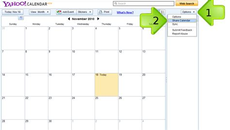 Calendar Yahoo Yahoo Calendar New Calendar Template Site
