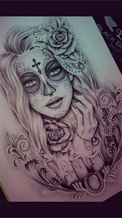 design is dead day of the dead tattoo design tattoos pinterest