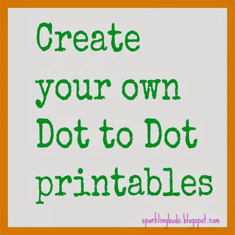 A Of Your Own make your own dot to dot printable using gimp sparklingbuds