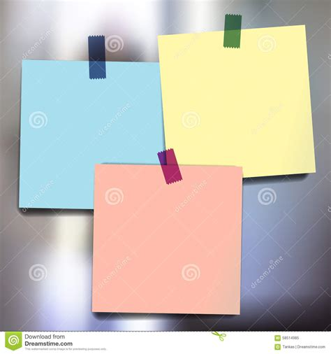sticky wallpaper sticky notes wallpapers stock vector image 58514985
