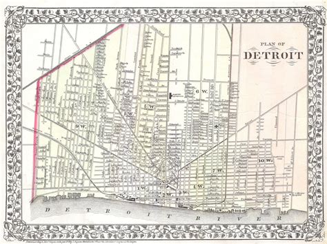 map of detroit michigan file 1872 mitchell map of the city of detroit michigan