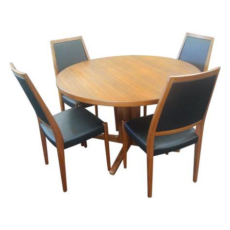 danish mid century modern teak dining set chairish