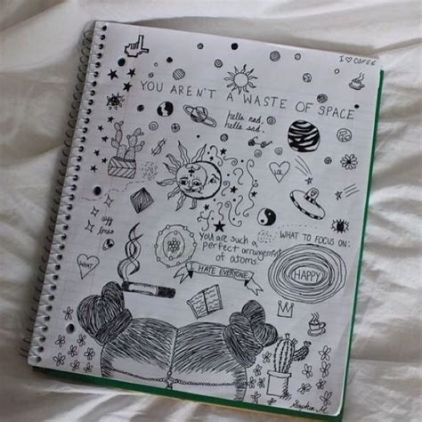 how to doodle in a notebook 107 best grunge drawings images on