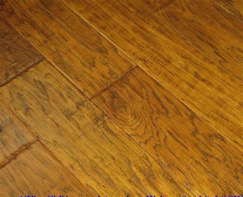 Distressed Engineered Wood Flooring Engineered Distressed Scraped Hickory Caramel Hardwood Floor Flooring Ebay