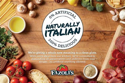 Restaurant Sweepstakes - fazoli s celebrates new clean menu with naturally italian sweepstakes restaurant