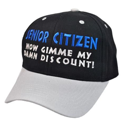 hat shop senior citizen discount snapback baseball