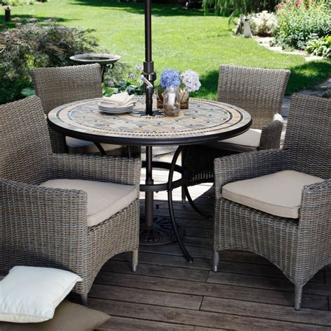 Patio Dining Furniture Patio Dining Set With Umbrella Patio Design Ideas