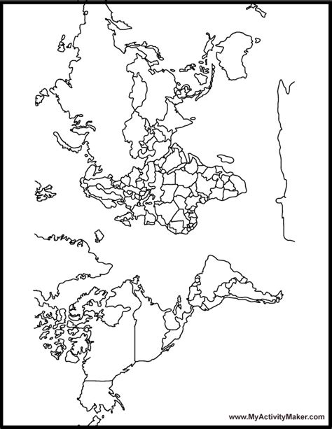 free coloring page world map world map coloring page for kids az coloring pages