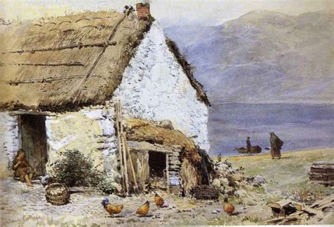 highland cottage paintings myles birket foster a highland cottage