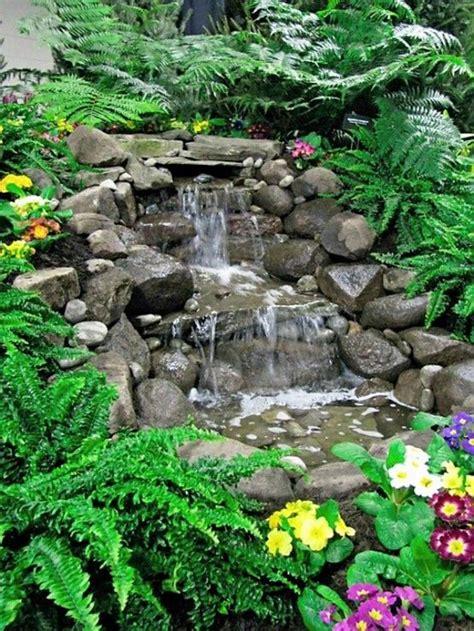 35 dreamy garden with backyard waterfall ideas home