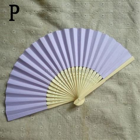 held folding fans summer mini paper bamboo folding fan cool