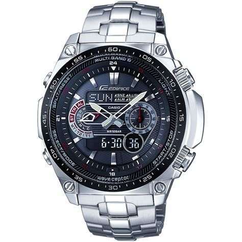 Casio Solar by Herren Casio Edifice Waveceptor Wecker Chronograf Radio