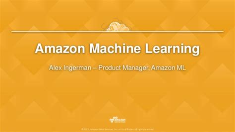 amazon machine learning amazon machine learning empowering developers to build