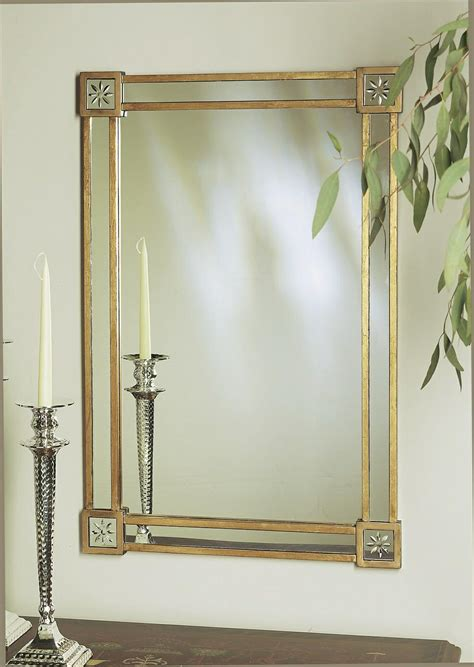 gold leaf mirror corners home decor