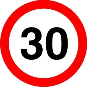 speed limit signs driving test tips