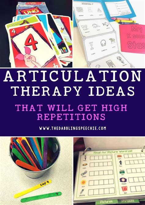 therapy ideas articulation ideas that will get high repetitions