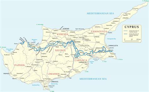 cyprus map map of cyprus kıbrıs cumhuriyeti maps mapsof net