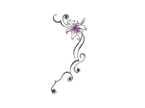 violet flower tattoo designs collection of 25 bee on violet flower design