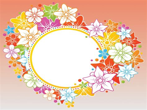 Orange Flowers Backgrounds Flowers Multi Color Templates Free Ppt Backgrounds And Flowers Powerpoint Template