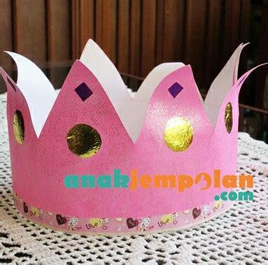 Mahkota Crown Bulu Warna Warni make your own crown anak jempolan