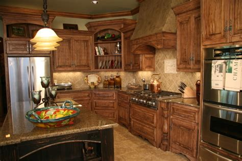 old world kitchen cabinets old world charm traditional kitchen oklahoma city
