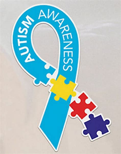 autism awareness color autism awareness multi color puzzle car magnet new