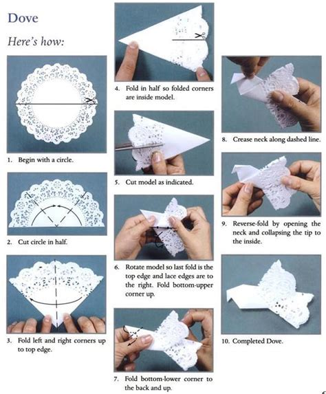 How To Make An Origami Dove - easy decoration origami doily dove