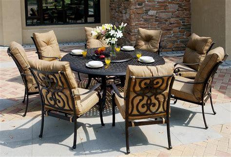 patio furniture dining set cast aluminum 71 quot table