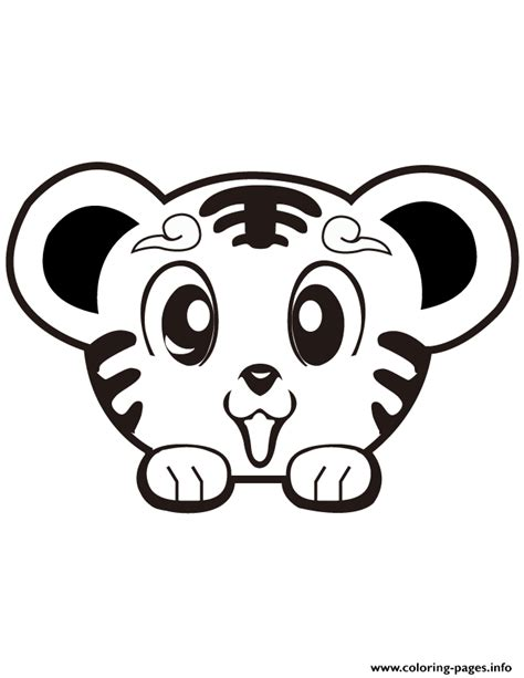 Super Cute Tiger Coloring Pages Printable