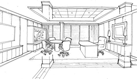 commercial office sketch 1
