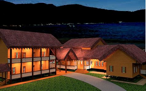 thatch roof house plans resort thatch house plan