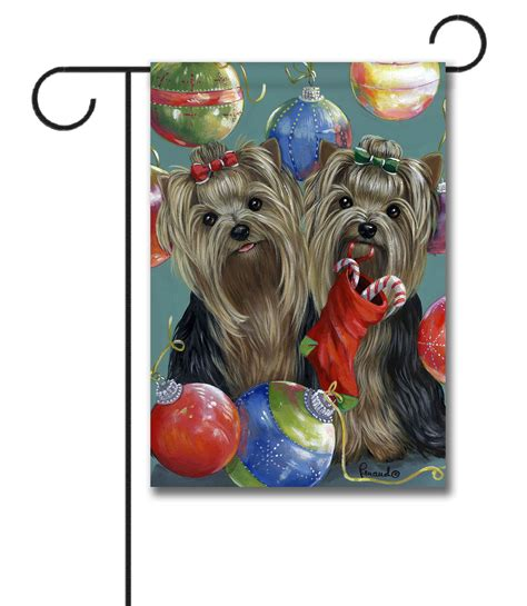 yorkie garden flag terrier garden flag terrier all that glitters garden flag 12 5
