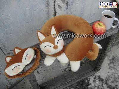 Boneka Bantal Leher Print Fr Doraemon bantal leher fox