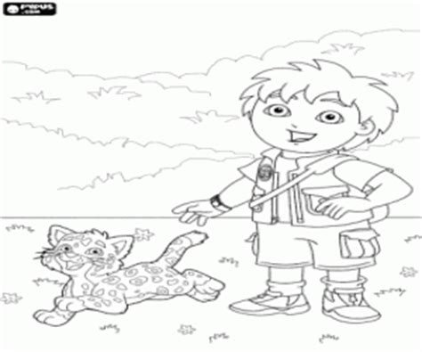 coloring pages baby jaguar go diego go coloring pages printable games