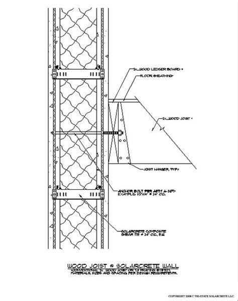joist section floor joist footer design details for the solarcrete