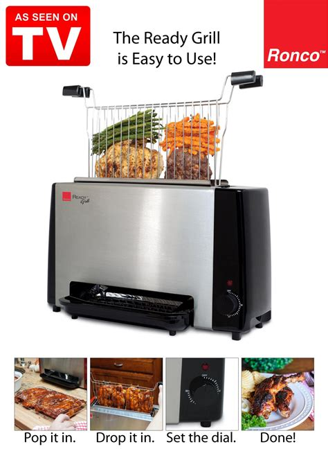 Be In Grille Tv by Ronco Ready Grill As Seen On Tv Carolwrightgifts