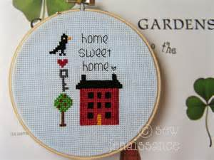 home sweet home mini cross stitch pattern