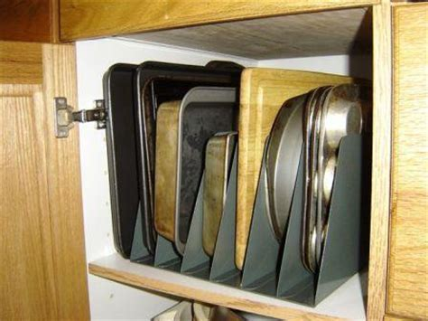 baking storage vertical baking pan storage the organized wife