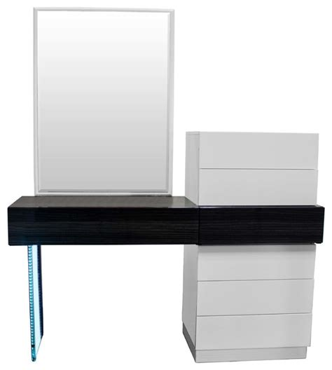 White Vanity Dresser by Ireland Modern White And Gray Vanity Dresser With Mirror